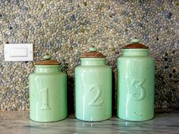 Ceramic Canisters For The Kitchen Glass Tile Backsplash Ideas Pictures U0026 Tips From Hgtv Hgtv