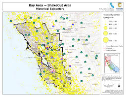 San Francisco Area Map by Great Shakeout Earthquake Drills Bay Area