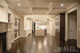 dining room ceiling ideas coffered dining room ceiling with stained china cabinet