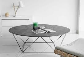banc beton cire table basse en métal et béton ciré
