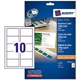 Avery Laser Business Cards Avery Quick U0026 Clean Laser Business Cards 85mm X 54mm Satin