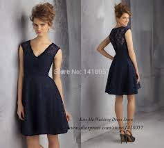 sell bridesmaid dress modest best sell navy blue lace bridesmaid dress 2015 v neck