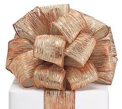 copper ribbon wired ribbon burton burton