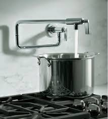 pot filler kitchen faucet learn more about pot filler height the homy design