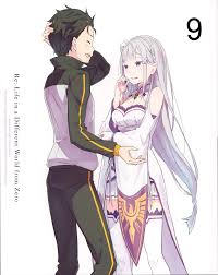 subaru and emilia re zero bd booklet yande re