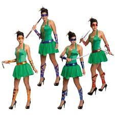 Ninja Turtle Halloween Costume Women Womens Ninja Turtle Costume Ebay