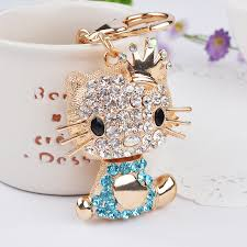 crystal key rings images Novelty rhinestone cat keychain fashion crystal key chain ring jpg