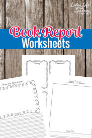 Summarize your favorite books with these book report worksheets for kindergarten or grade   students Living Life and Learning