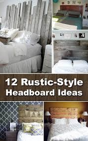12 diy rustic style headboard ideas