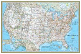 Map Of Sw Usa by National Geographic Usa Classic Wall Map Maps Com