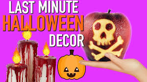 easy last minute diy halloween decorations youtube