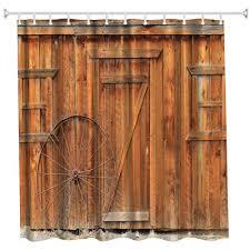 Black Bathroom Curtains 2018 The Wheel Wooden Door Polyester Shower Curtain Bathroom