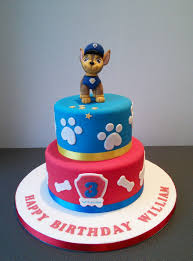 chase paw patrol 2 tier cake compleanno francesco