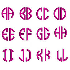 letter monogram letter satin circle monogram machine embroidery small satin font