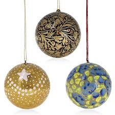 tree hanging ornaments handmade paper mache