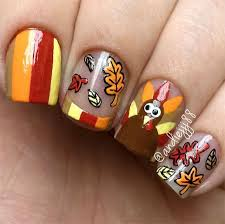 thanksgiving nail designs beautify themselves with sweet