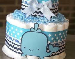 2 tier under the sea diaper cake boy gender neutral baby