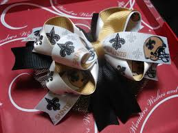 saints ribbon new orleans saints ribbon on a stacked boutique bow measures
