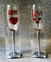 decorazioni bicchieri san valentino 2 bicchieri calice con decorazioni cuori