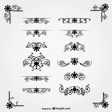free vector floral ornaments vector free vector in ai