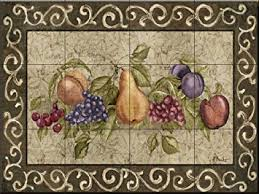 ceramic tile murals for kitchen backsplash ceramic tile mural traditional fruit i by paul brent kitchen