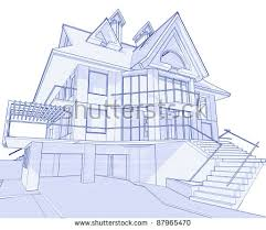 blueprint for house house blueprint 3d technical draw stock illustration 11832973