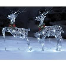 reindeers and sleigh led outside light set just 29 99