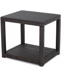 wicker end tables sale on sale now 34 off palawan outdoor wicker accent table multibrown