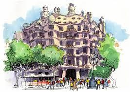 james richards sketchbook return from barcelona