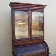 Large Secretary Desk by American Antique Cylinder Desk Secretary Bookcase Antique Furniture