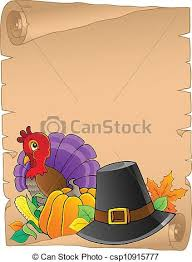 vectors illustration of thanksgiving theme parchment 2 vector