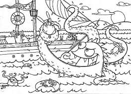 drawing kraken sea monster colouring colouring club