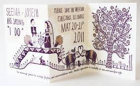 indian wedding invitations chicago seema joseph s whimsical illustrated wedding invitations