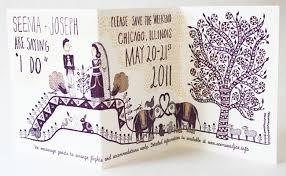 seema joseph s whimsical illustrated wedding invitations