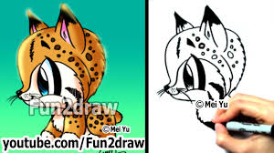 how to draw animals how to draw a bob cat cute art easy