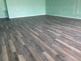 vinyl plank flooring installation for a studio