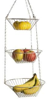 3 tier fruit basket home basics hanging basket 3 tier kitchen