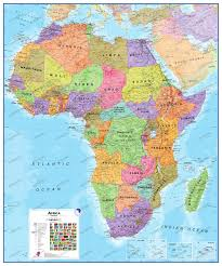 Map Of Sub Saharan Africa Political Africa Map Africa Africa Wall Maps
