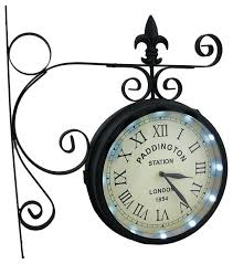 lighted digital wall clock double sided wall clocks double sided station solar powered led
