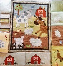 Farm Animals Crib Bedding by Kidsline Farm Nursery Bedding Ebay