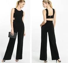 express black jumpsuit express 0 black wide leg cut out open back jumpsuit xs