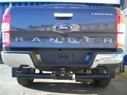 towing with ford ranger ford ranger 2016 onwards witter flange towbar with bumper