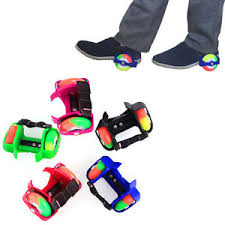 roller skates with flashing lights light up wheels strap on heel wheelies kid roller skates blades