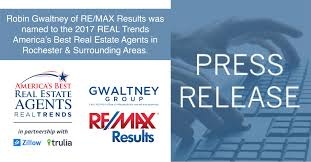robin gwaltney of re max results was named to the 2017 real trends