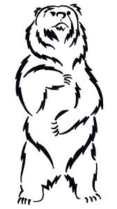 grizzly bear outline wallpaper download cucumberpress com
