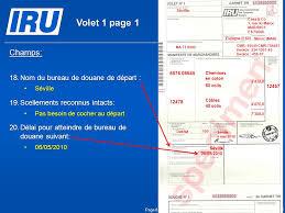 bureau de douane scénario 6 remplissage du carnet tir par les douanes de départ et de
