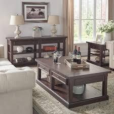 Espresso Accent Table Jenson Espresso Wood Accent Tables By Inspire Q Classic Free