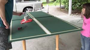 how big is a ping pong table ping pong table youtube