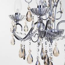 vara 3 light chrome bathroom chandelier w champagne crystals