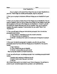 thanksgiving writing assignment by kristen jacobson tpt
